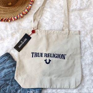 True Religion Bags - NWT True Religion Canvas Tote Wave Earth Day Bag 6f2e07ead2
